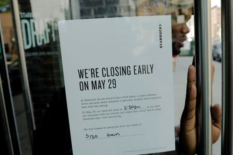 Description: This spring, Starbucks closed its U.S. stores so employees could participate in an afternoon of education about racial bias.